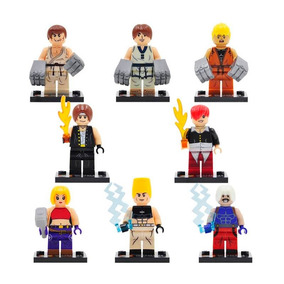 Kof King Of Fighters Set Figuras Comp. Lego Iori Kyo Rugal