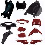 Kit Carenagem Plastico P/ Honda Biz 100 Ano 2000 - Vermelho