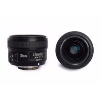 Lente Yongnuo Yn 35mm P/ Nikon F/2 G (auto Foco) + Uv 58mm