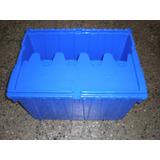Cajon Caja Plastico Reforzado Apilable Con Tapa Bisagra 70l