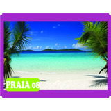 Adesivo Decorativo Praia Barco Natureza Sol - Grande 3 M²