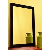 Espejo Con Marco De Madera 50 X 60 Cm Baño/deco Laqueado!!