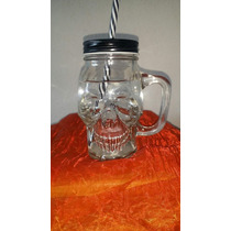 Masson Jar Calavera De Cristal 500 Ml