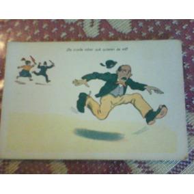 Antigua Postal Humoristica Uruguaya
