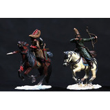 Soldados De Plomo-caballeria Rusa-manes Marzano Collection