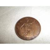 Antigua Moneda De One Penny.año 1918 Muy Buen Estado.ver!!!!
