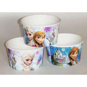 vaso decorado dulcero infantil mesa fiesta frozen princesas