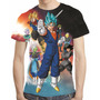 Camisa Dragon Ball Super Camiseta Gogeta Goku Vegeta Ssj God