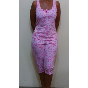 Pijamas Algodón Damas Modelo Capri