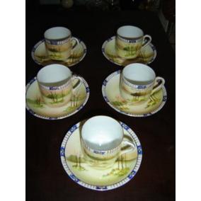 5 Tazas De Cafe De Porcelana Japonesas