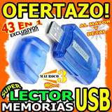 Wow Lector De Memoria Usb 43 En 1 Microsd Sd Mini Produo Wow