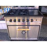 Cocina Semi Industrial 4 Hornallas + Plancha Tecno Calor