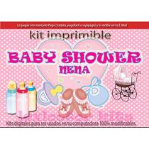 Kit Imprimible Candy Bar Baby Shower Nenas Juegos Cotillón
