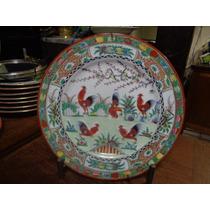 Prato Porcelana Mandarim Pintado A Mão