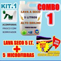 Kit 5 Pano Microfibra + 5 Lt Lava Carro A Seco * Anti-risco