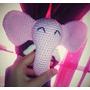 Sonajero De Elefante, Tejido Al Crochet. (amigurumi)