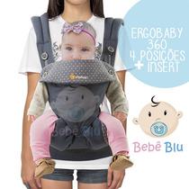 Canguru Ergobaby 360 + Insert Bebê Baby Carrier Enxoval Luxo