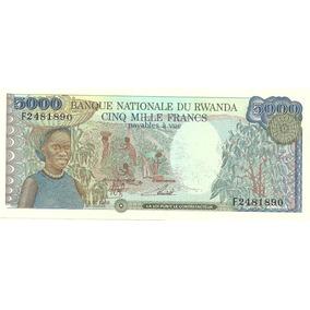 Billete Rwanda 5000 Francos Año 1988 Catalogo 60 Dolares!!!!