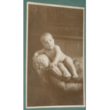 Fotografia Postal Infantil Niños Bebe En Sillon 1925 Sepia