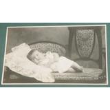 Fotografia Postal Infantil Niños Bebe En Sillon Roig Bragado