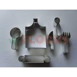 Cortante Molde Set De Cocina Flogus Porcelana Fria Galletita