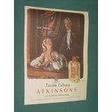Publicidad Clipping Atkinsons Perfumes Colonia Lavanda Mo9