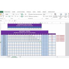 Planilha Do Excel Para Conferir Jogos Da Lotofácil