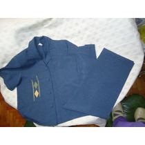 Conjunto Chaqueta M/c Y Pantalon Talle 46 Color Azulino