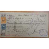 Antigua Letra Cambio Osorno 1928 Banco Osorno Y La Unión