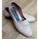 Gacel Studio Zapatos Petate Cuero Tejido 35