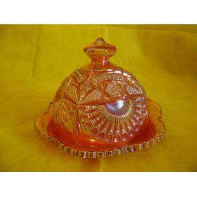 Caramelera/quesera Carnival Glass Antigua, Perfecto Estado!