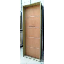 Puerta Placa Cedro Apliques Aluminio 80-10 Marco Ch18 Pesado