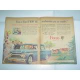 Ford F-100 Cabina Chaise Longue Camioneta Publicidad 1961