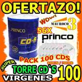 Torre 100 Cd Virgen Princo Smarbuy 56x 80min 700mb Cds Wow