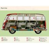 Lamina 45 X 30 Cm. - Camioneta Volkswagen Combi - En Ingles