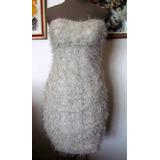 Vestido Strapless Color Crema Fiesta Cumple15 Casamientos