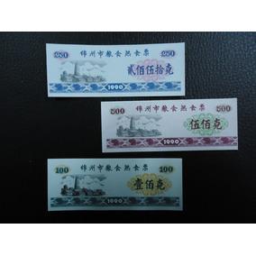China Set X 3 Billetes Unc 1990 (jinzhou City)