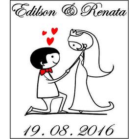 Adesivo Casamento Noivinhos Taça Copo 4cm X 5cm Pacot 2 Unid