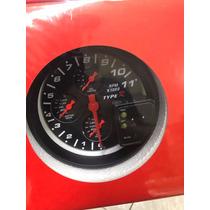 Relogio Rpm Type R 4 Em 1 Fundo Preto Tuning X1000 F- Gratis
