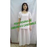 Conjunto Fem Oxford Pr Roupas Santo/orixás Umbanda/candomblé