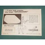 Publicidad - Cacique Carpa Exploracion Toda Ocasion
