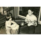 Fac7 Thelma Biral C/ Hijo Y Guitarra Juguete Foto Archivo