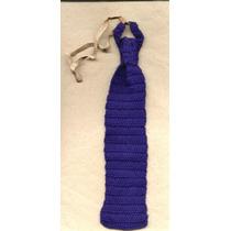 Corbata De Niño Uniforme O Vestir Azul Tejida Al Crochet
