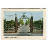 Postal Entrada Al Parque Mendoza 1950
