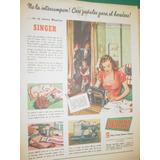 Publicidad Antigua Maquinas Coser Singer Pañales Heredero