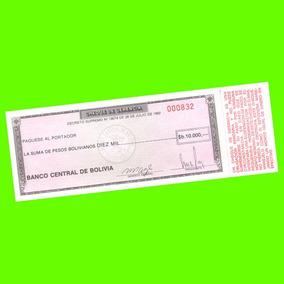Bolivia - Billete De 10.000 Pesos Bolivianos ¡ Sin Circular!