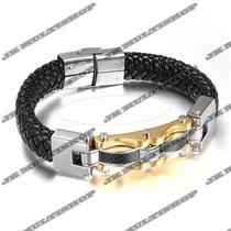 Pulseira Bracelete Algema Masculino Titanium