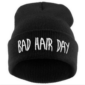 Touca Gorro Bad Hair Day Unissex Black