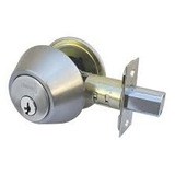 Cerradura Tipo Cerrojo (llave-pestillo) Seguridad Plateada
