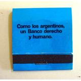 Carterita De Fósforos Banco Provincia De Buenos Aires (1978)